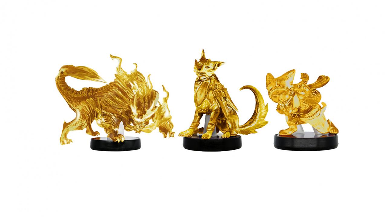 Random: Gold Monster Hunter Rise amiibo Set Up For Grabs In 7-Eleven Japan Lottery