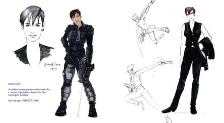 A selection of concept artwork for Perfect Dark characters
