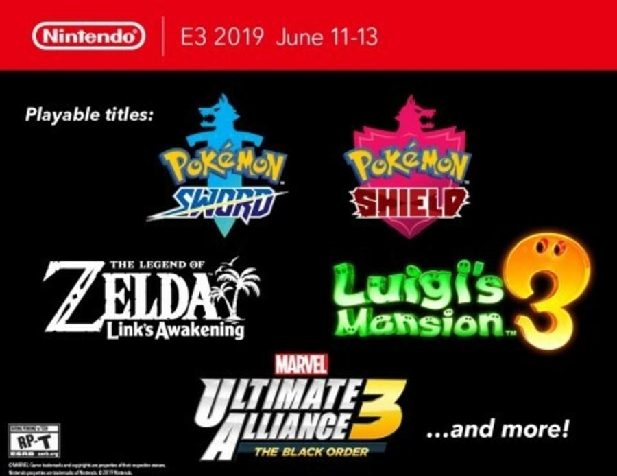 E3 2019 Nintendo Switch Games Lineup: Pokémon, Mario, Zelda
