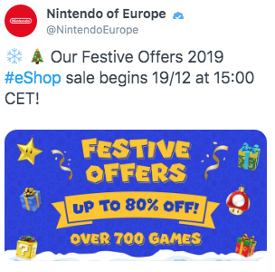 Nintendo vaza acidentalmente uma possível mega promoção de Natal