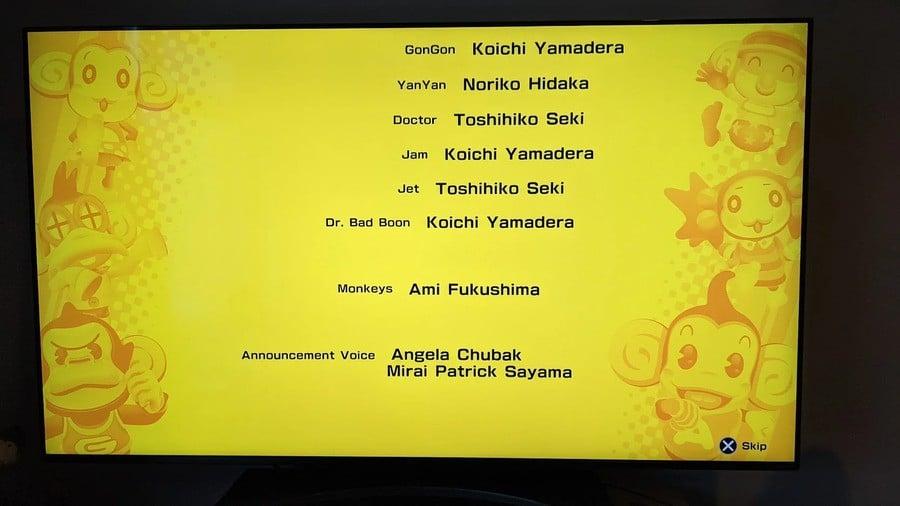 Announcement voice in the Banana Mania credits: Angela Chubak and Mirai Patrick Sayama