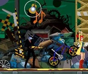 Ghost Trick: Screenshot of Lynne at gunpoint