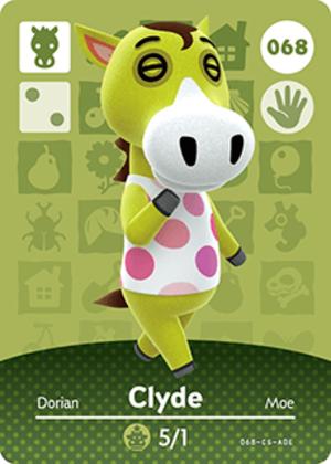 Clyde amiibo card