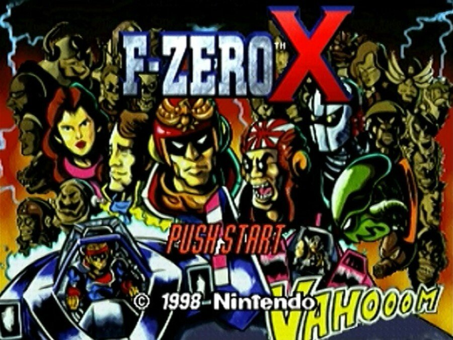 F Zero X Menu Screen