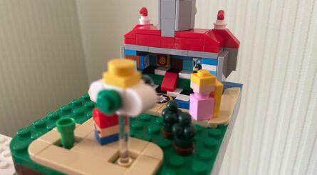 Lego Mario Block Peach Lock