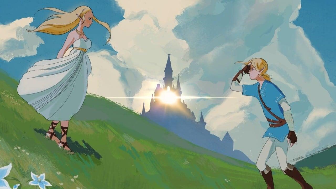 Zelda: Breath Of The Wild Transformed Into Stunning Studio Ghibli-Inspired Poster - Nintendo Life