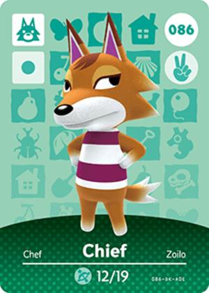 Chief amiibo card