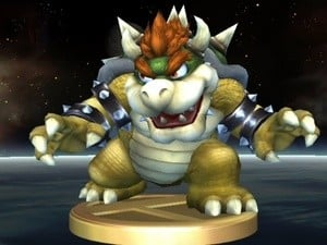 Bowser wants to get off this trophy