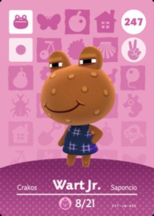 Wart Jr. amiibo card