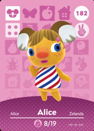 Alice amiibo card