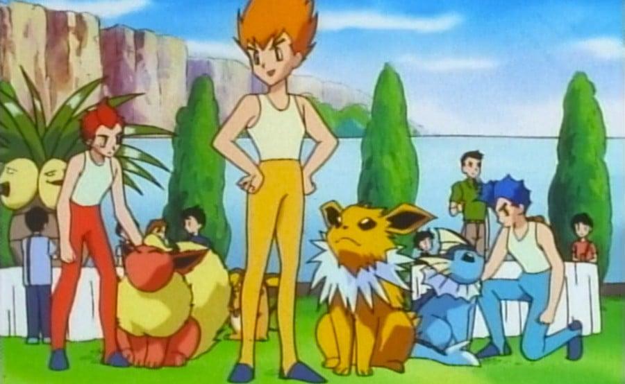 Flareon, Jolteon and Vaporeon appearing in the Pokémon anime