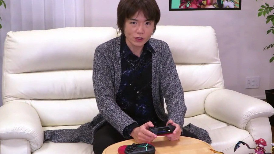 It seems Sakurai's even busy making games in his time off!