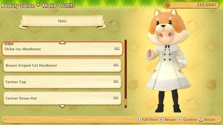 Hat and body are separate outfit items for the protagonist, but not a marriage candidate