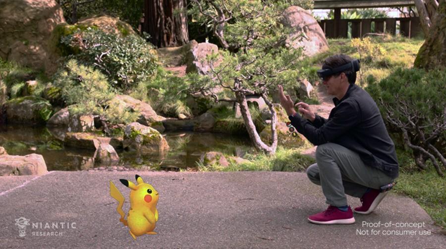 Niantic founder John Hanke with Pikachu