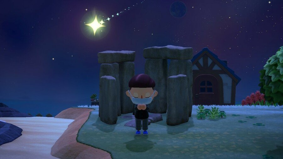 Stonehenge Shooting Star Wish Animal Crossing New Horizons
