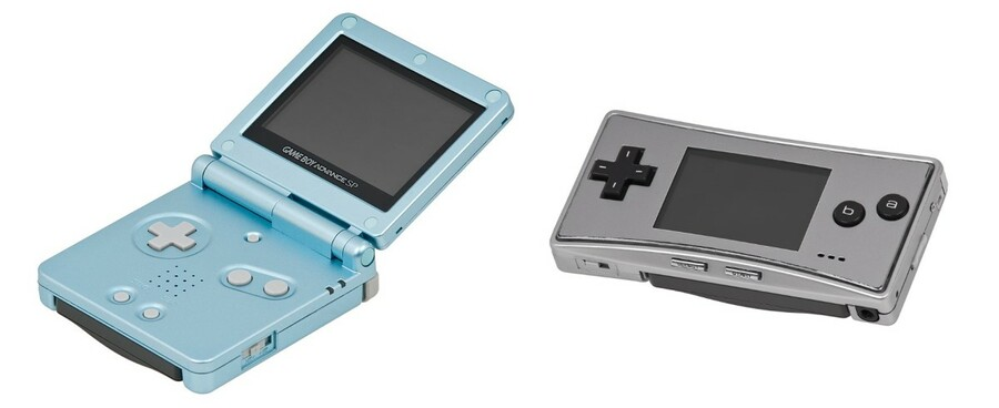 Game Boy Advance SP and Micro