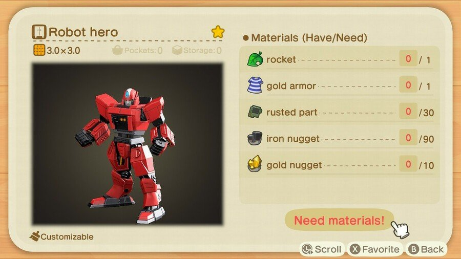 Animal Crossing New Horizons Guide Gulliver Item Craft Robot Hero