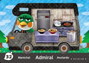 Admiral amiibo card