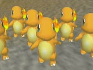 The Charmanders all want you to buy Pokemon Snap!