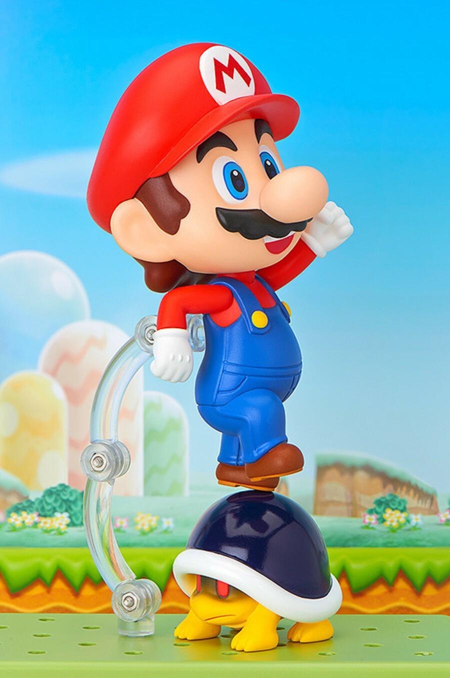 Mario jumping on shell