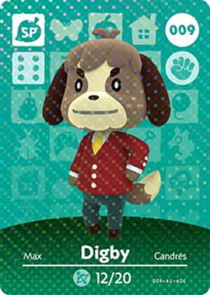 Digby amiibo card