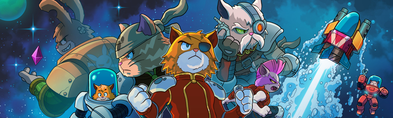 Mini Review: Astro Aqua Kitty - A Visually Sumptuous Shmup Sequel