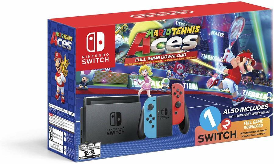 Nintendo Switch Mario Tennis Aces Bundle