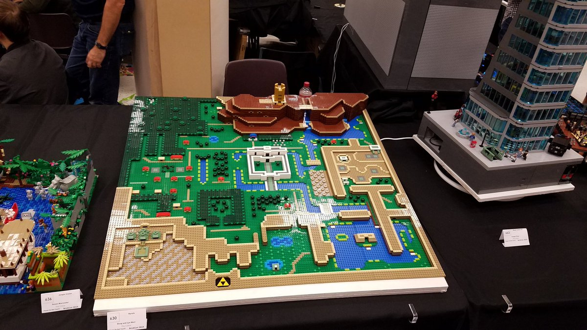 Zelda: A Link To The Past's Map In LEGO Form Is A Sight To Behold