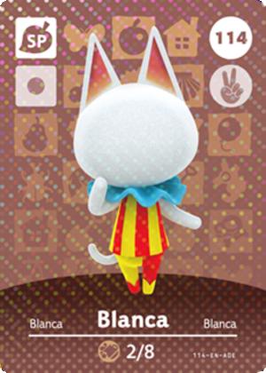 Blanca amiibo card