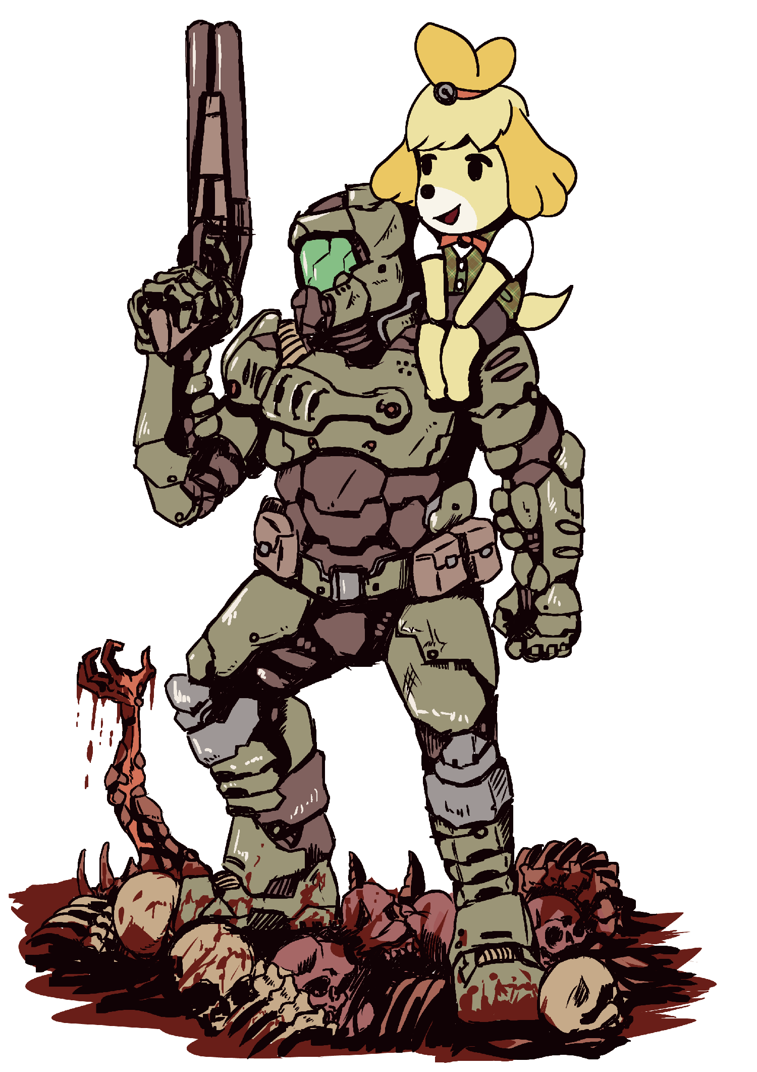 Random Doomguy And Isabelle Are Fast Becoming 2020 S Most