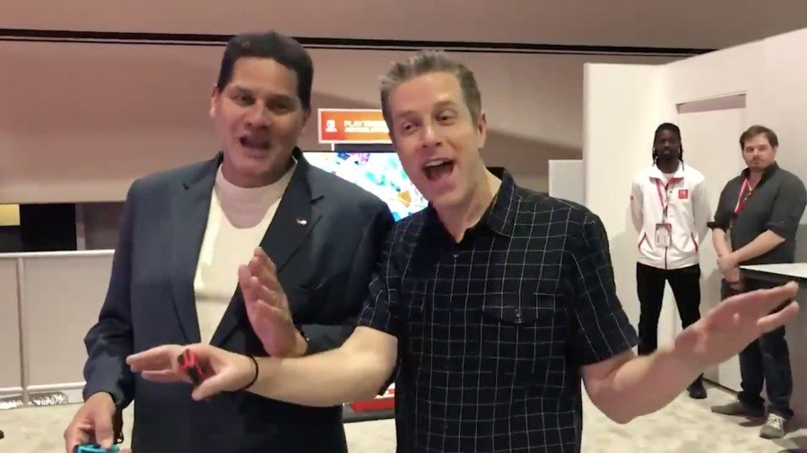 Reggie Fils Aime and Geoff Keighley