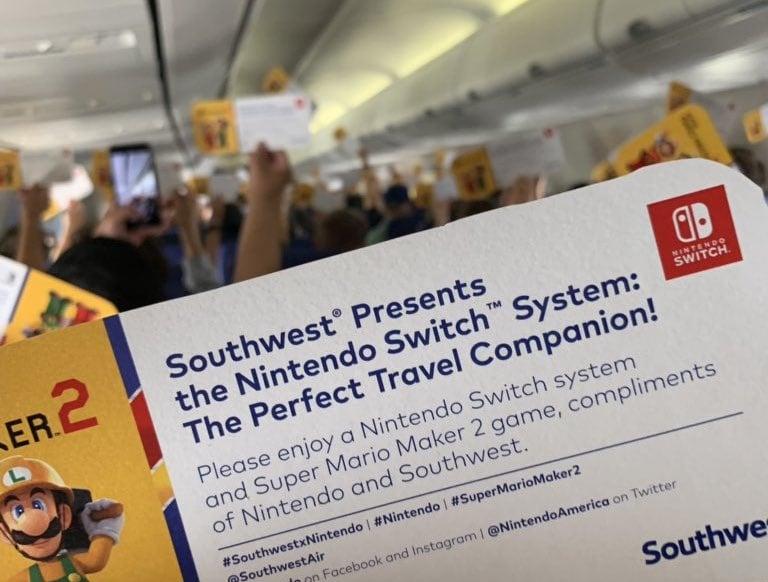 Random: Everyone On This Southwest Flight Got A Nintendo Switch For Free