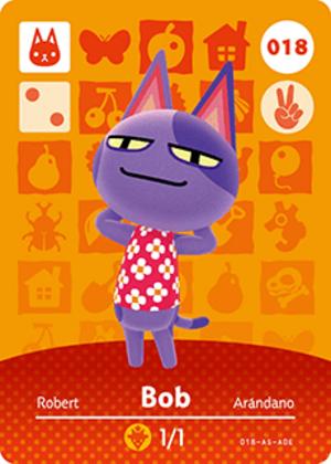 Bob amiibo card