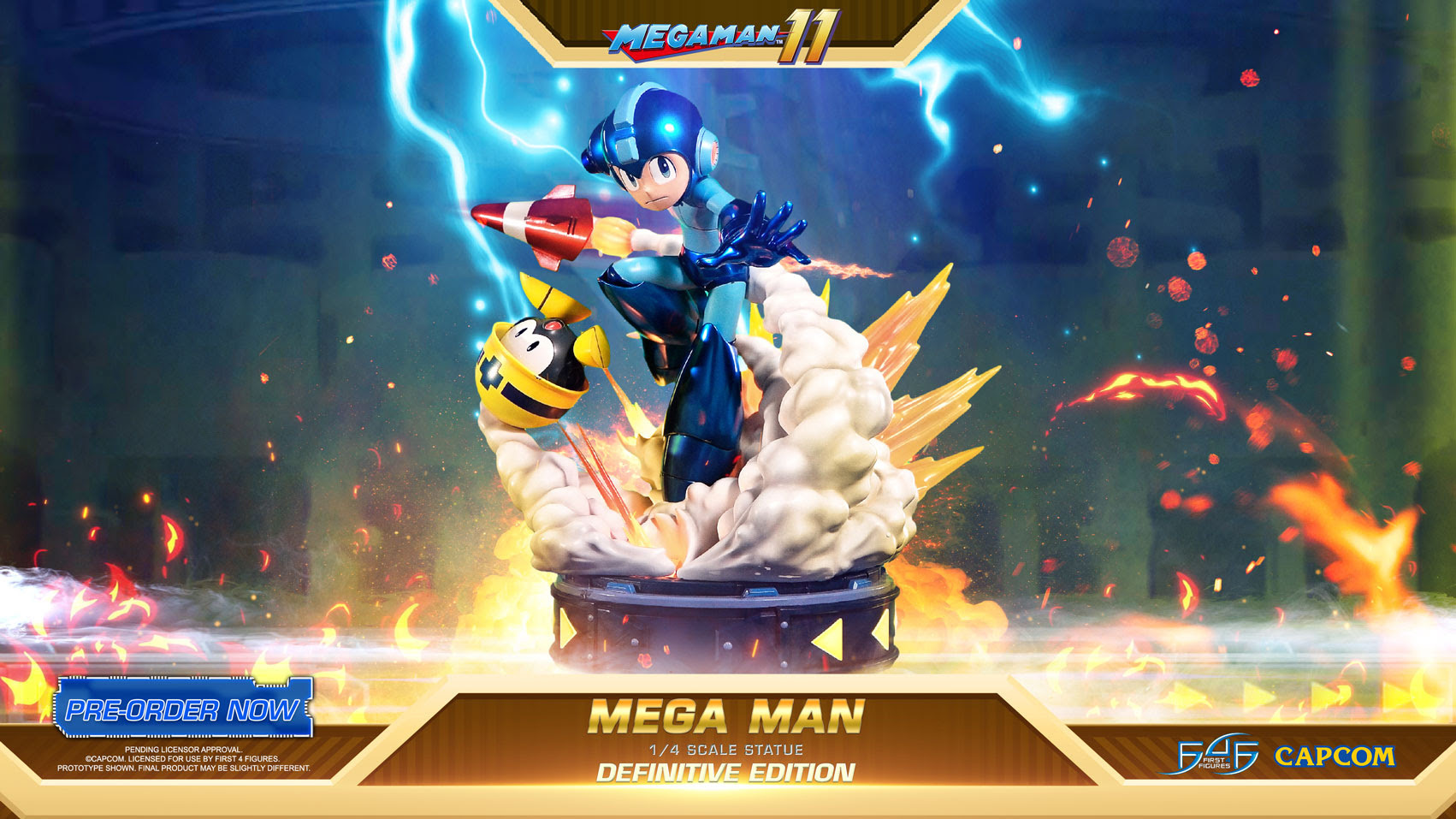 First 4 Figures Unveils Stunning Mega Man 11 Collectible Statue