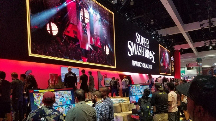 Super Smash Bros. Ultimate at E3 earlier this year