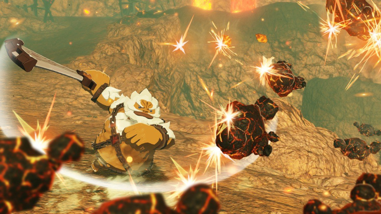 Video Hyrule Warriors Age Of Calamity Goron Champion Gameplay Footage Nintendo Life