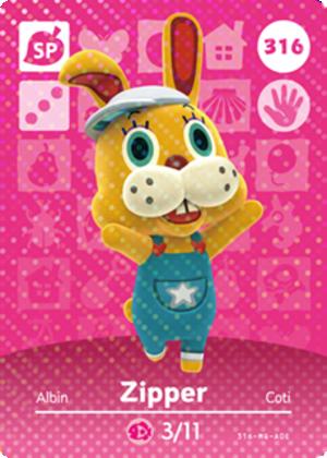 Zipper amiibo card