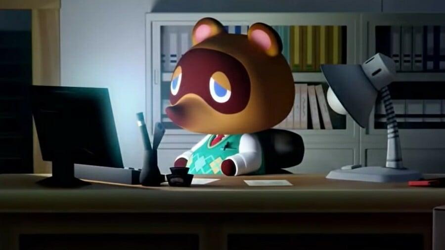 Animal Crossing New Horizons Tom Nook Desk Dark