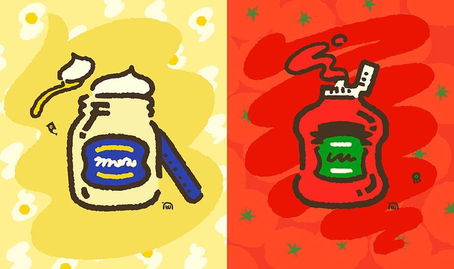 Splatfest Mayo V Ketchup