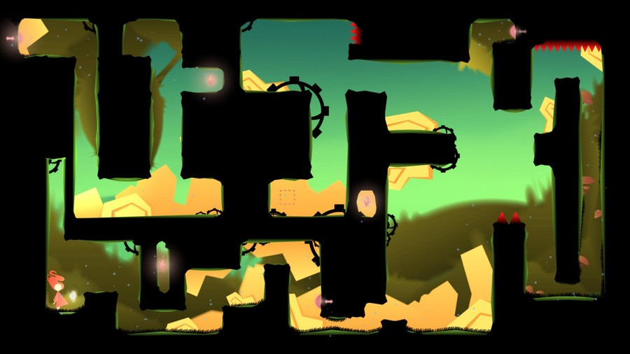 A screenshot from Koloro, one of the three new games