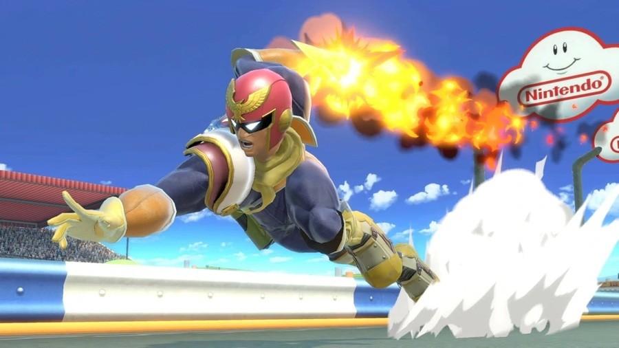 Captain Falcon as seen in Smash Bros. Ultimate