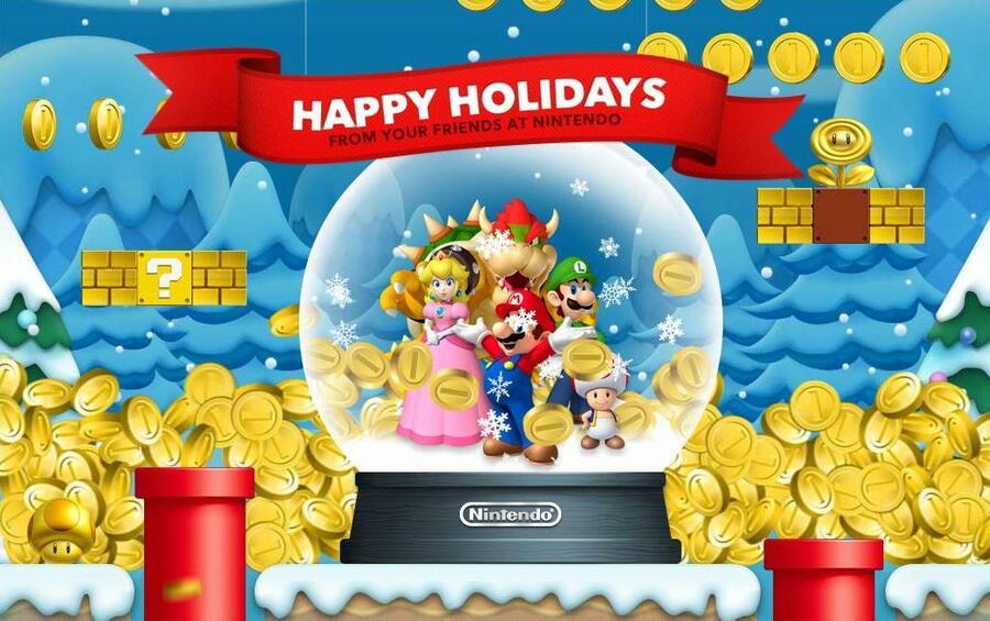 Nintendo Christmas Card