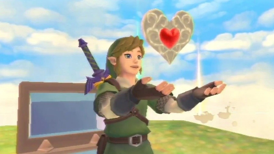 Skyward Sword on Wii made collecting items a pain in the... heart.