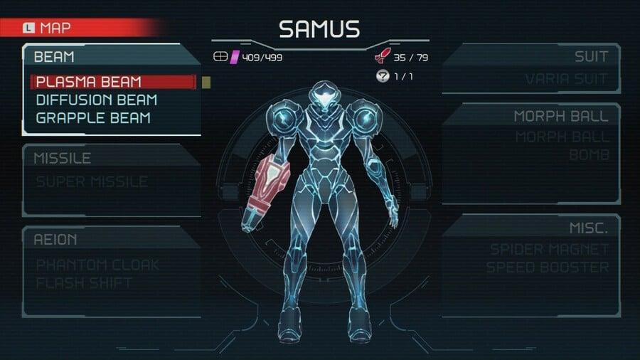 Metroid Dread Plasma Beam