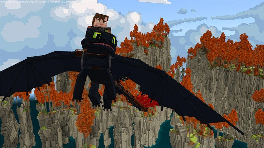 Minecraft How To Train Your Dragon
