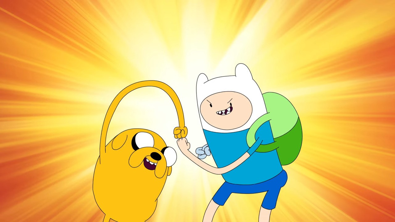 Jake, Finn And Princess Bubblegum From Adventure Time Come