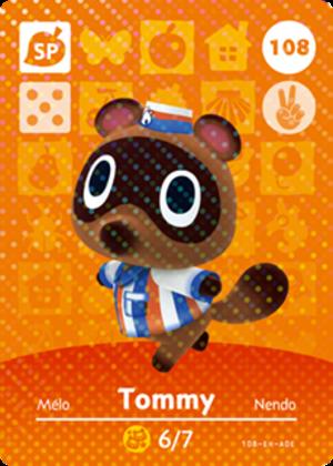 Tommy amiibo card