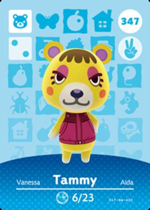 Tammy amiibo card