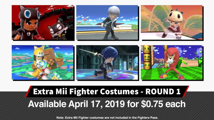 Mii Fighter Costumes - Round 1