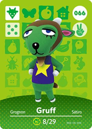 Gruff amiibo card
